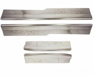 Накладки на пороги (нерж.) на Ford Kuga (1 тип)