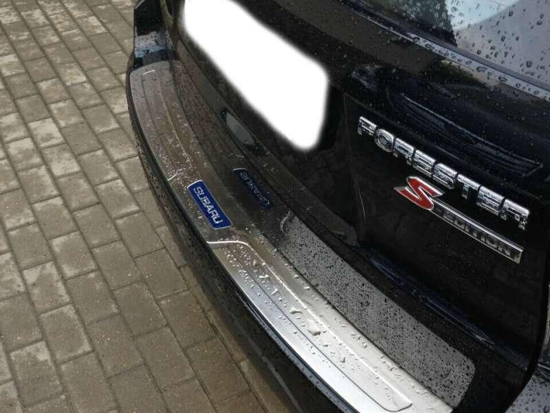 Накладка на бампер Subaru Forester SH