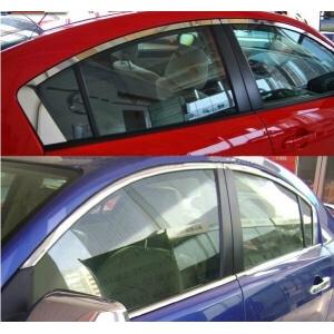 Хромированные молдинги на окна дверей Mazda 3 (8 предметов)