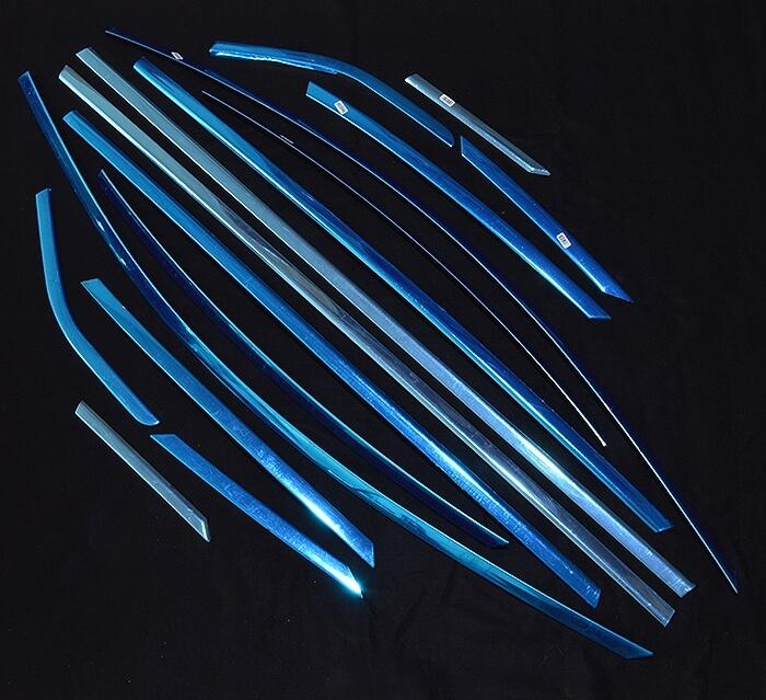 Хромированные молдинги на окна дверей Ford Focus 3 хэтчбек (16 предметов), фото 2