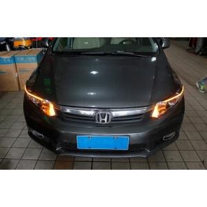 Светодиодные реснички на фары Honda Civic