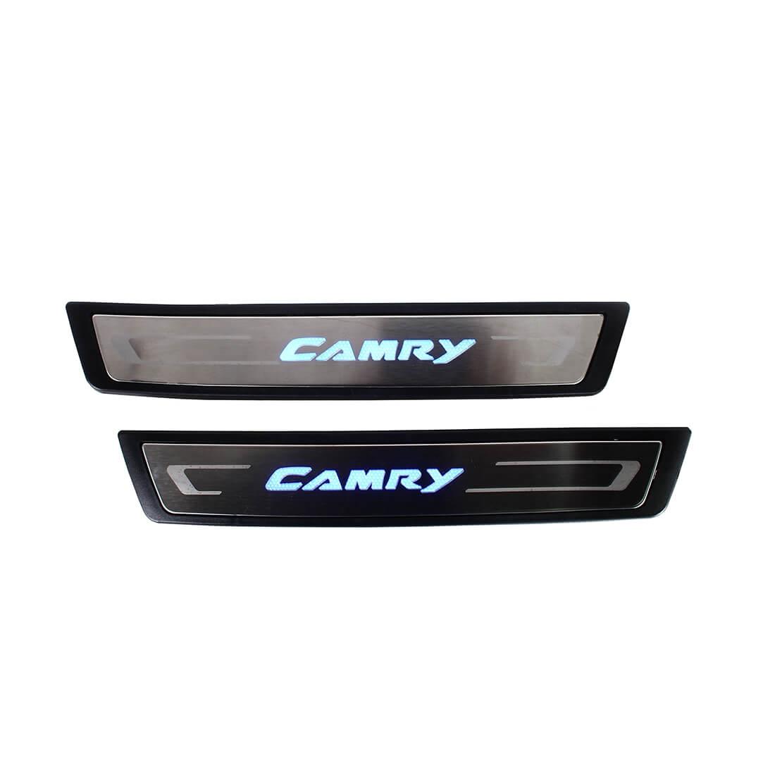 Накладки на пороги с подсветкой (под оригинал) Toyota Camry XV50, фото 2