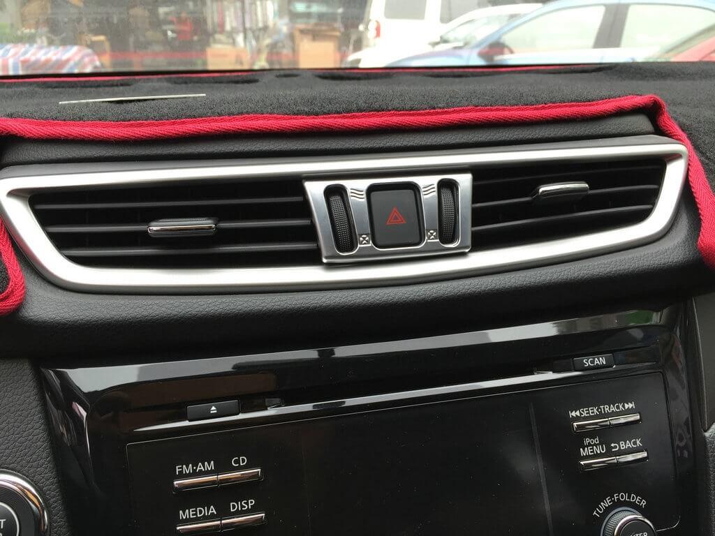Хром окантовка кнопок кондиционера Nissan X-Trail (2015), фото 3