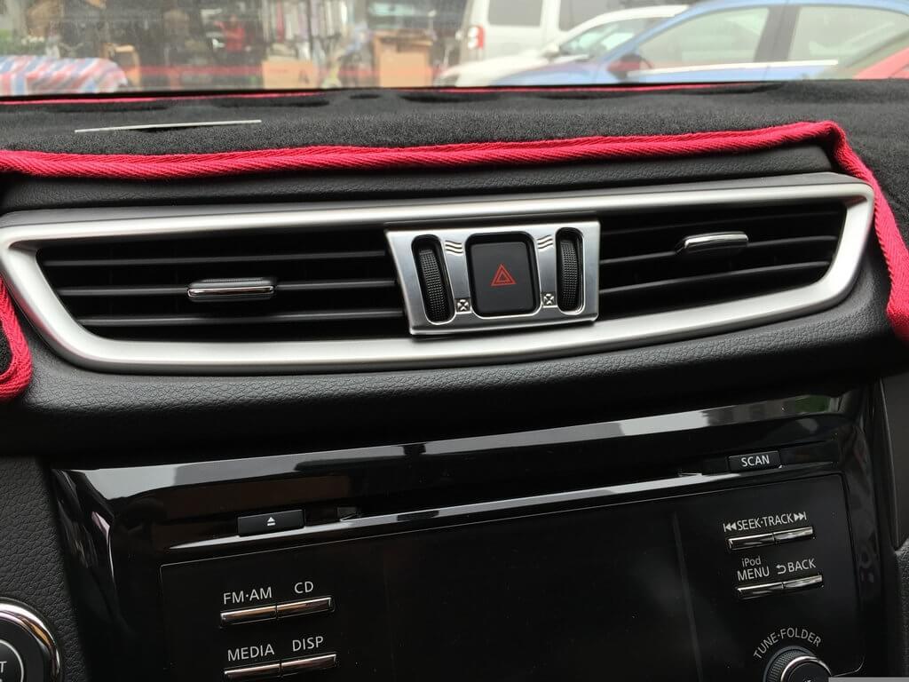 Хром окантовка кнопок кондиционера Nissan X-Trail (2015), фото 4