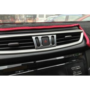 Хром окантовка кнопок кондиционера Nissan X-Trail (2015)