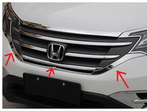Хромированная накладка под решетку радиатора Honda CRV