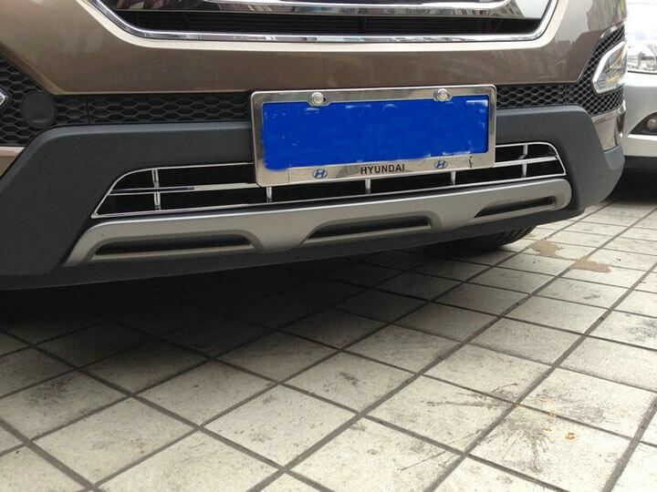 Накладка на нижнюю решетку радиатора Hyundai Santa Fe (2012-2016), фото 2