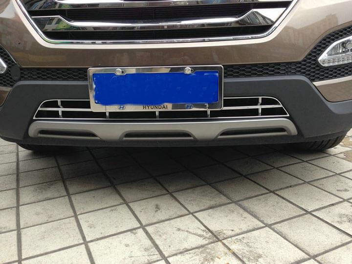 Накладка на нижнюю решетку радиатора Hyundai Santa Fe (2012-2016), фото 3