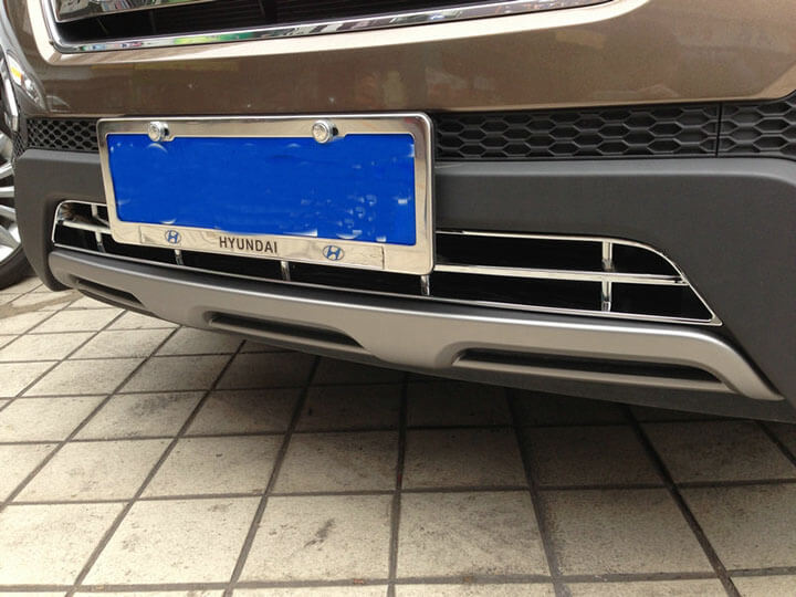Накладка на нижнюю решетку радиатора Hyundai Santa Fe (2012-2016), фото 4