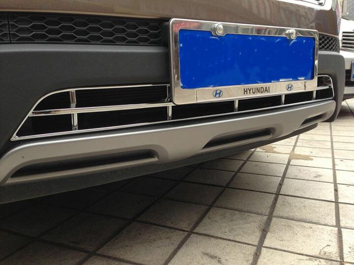 Накладка на нижнюю решетку радиатора Hyundai Santa Fe (2012-2016), фото 6
