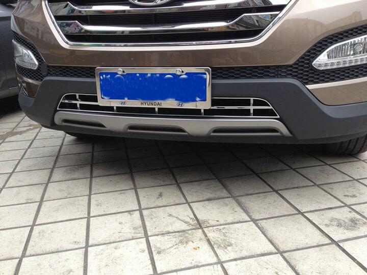 Накладка на нижнюю решетку радиатора Hyundai Santa Fe (2012-2016), фото 9