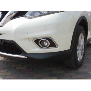 Накладки на передние ПТФ Nissan X-Trail (2015)