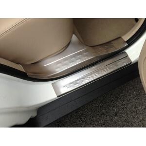 Накладки на внешние пороги (нерж.) на Nissan X-Trail