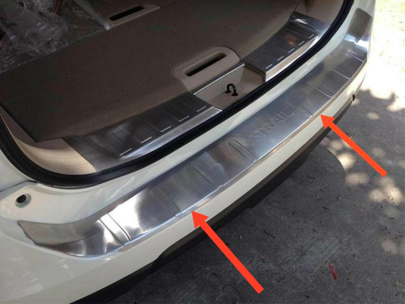 Накладка на бампер Nissan X-Trail T32 (2 вариант)