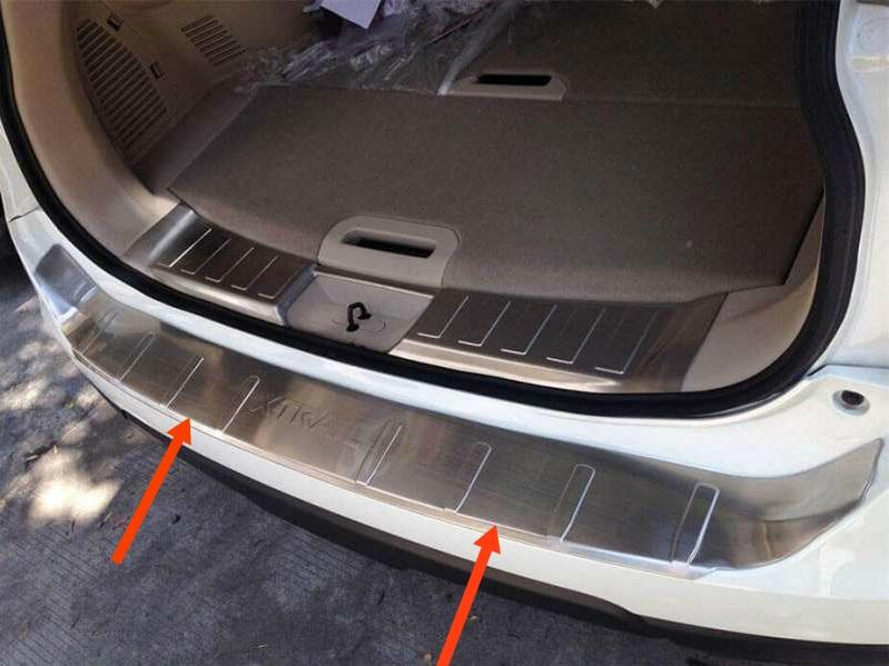 Накладка на бампер Nissan X-Trail T32 (2 вариант), фото 2