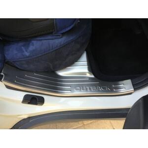 Накладки на внутренние пороги (нерж.) на Subaru Outback (2015)
