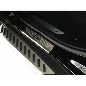 Накладки на внешние пороги на BMW X5 F15