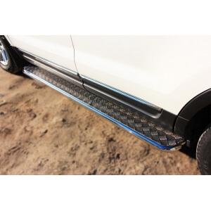 Пороги труба с листом Ford Explorer 2012 – 2015 (вариант 2)