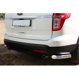 Защита заднего бампера уголки Ford Explorer 2012 d76 (секции) FEZ-001316
