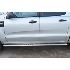 Пороги труба с проступью Ford Ranger 2011 – 2015