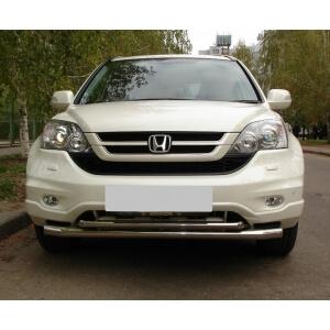 Защита переднего бампера Honda CR-V 2010 d63/42 (дв.2,0) HNZ-000225