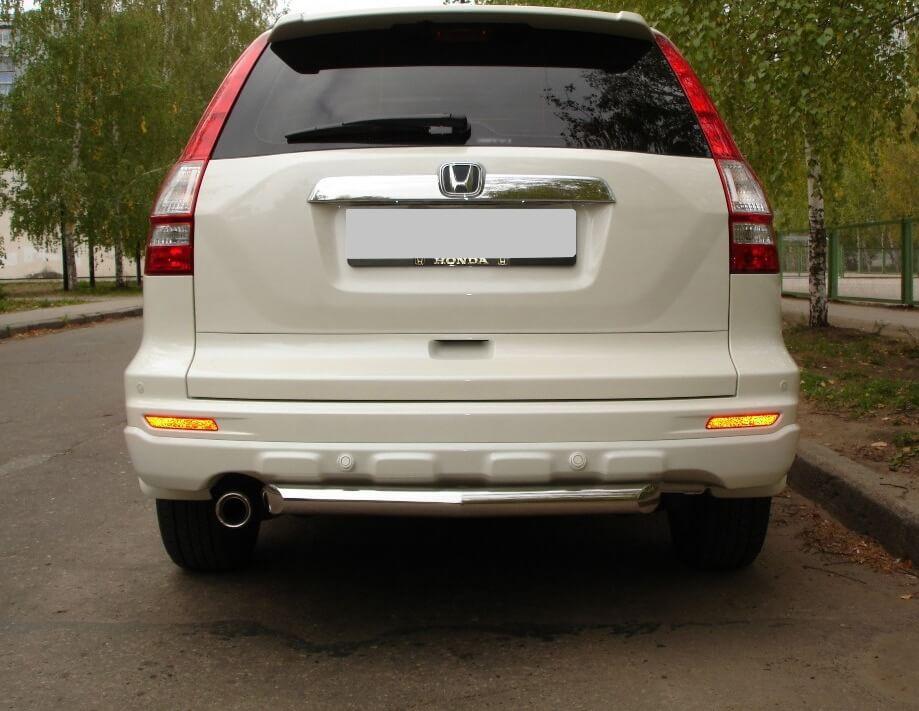Защита заднего бампера Honda CR-V 2010 d63 HNZ-000226, фото 3