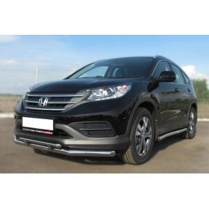 Защита переднего бампера Honda CR-V 2013 d63 (секции) d42 (прямой) HVZ-001337