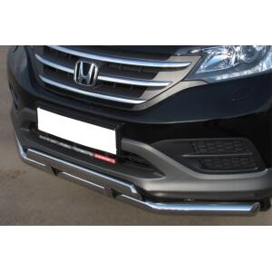 Защита переднего бампера Honda CR-V 2013 d63 (секции) d75х42 (прямой) HVZ-001338