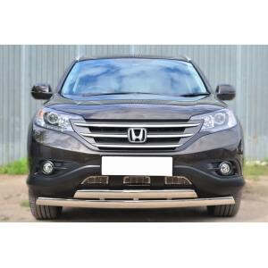 Защита переднего бампера Honda CR-V 2,4 2013- d75х42 (дуга) d75х42 (дуга) HVZ-001768