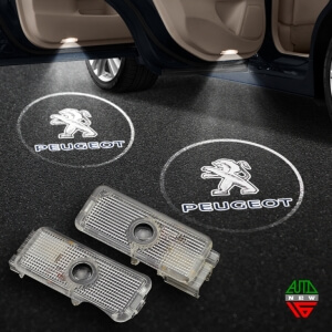 Штатная подсветка дверей Peugeot 407