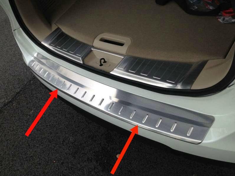 Накладка на бампер Nissan X-Trail T32 (1 вариант)