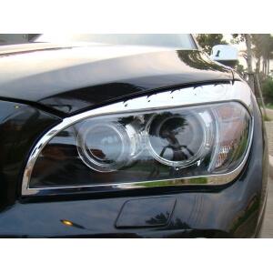 Хромированные накладки на передние фары BMW X1 (2009-2012)