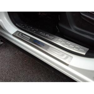 Накладки на внешние пороги (нерж.) на Mazda CX-5