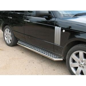 Пороги труба Range Rover d76 с листом RRL-000330