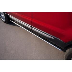 Пороги труба Land Rover Range Rover Evoque Prestige u Pure (овал с проступью)