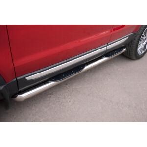 Пороги труба с накладками Land Rover Range Rover Evoque Prestige u Pure (вариант 1)