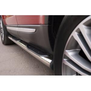 Пороги труба с накладками Land Rover Range Rover Evoque Prestige u Pure (вариант 2)