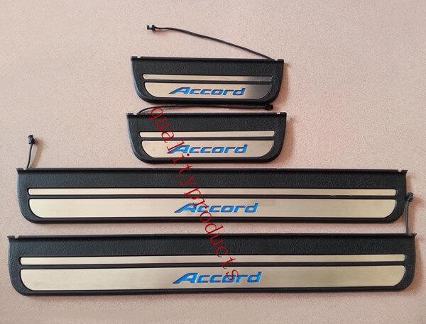 Накладки на пороги с подсветкой (под оригинал) Honda Accord 7, фото 3