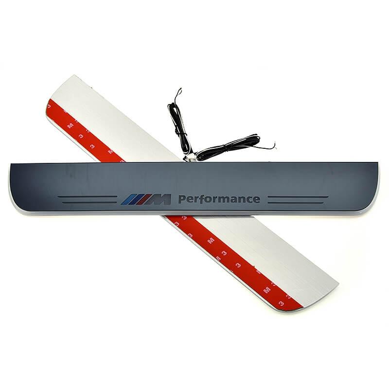 Накладки на пороги Premium для BMW X3 F25 (белая подсветка), фото 4