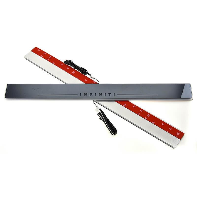 Накладки на пороги Premium для Infiniti FX30/35/37/50 (белая подсветка), фото 4
