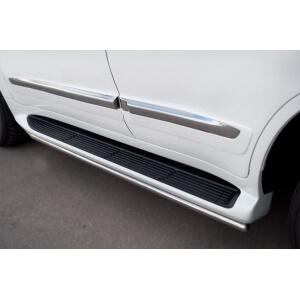 Пороги труба Lexus LX 570 2012 d42 LLXТ-000866