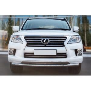 Защита переднего бампера Lexus LX 570 2012 d76/75х42 LLXZ-000861