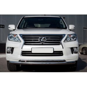 Защита переднего бампера Lexus LX 570 2012 d76/42 (дуга) LLXZ-000862