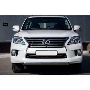 Защита переднего бампера Lexus LX 570 2012 d75х42 овал (короткая) LLXZ-000863