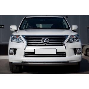 Защита переднего бампера Lexus LX 570 2012 d75x42/42 LLXZ-000864