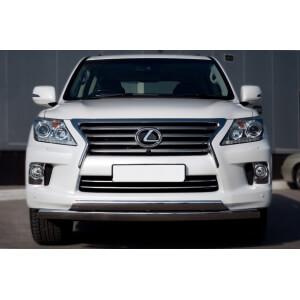 Защита переднего бампера Lexus LX 570 2012 d75x42/75х42 овалы LLXZ-000865