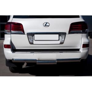 Защита заднего бампера Lexus LX 570 2012 d76 (ступень) LLXZ-000868