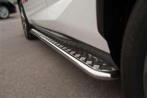Пороги труба с листом Lexus NX 200t F Sport (вариант 3)