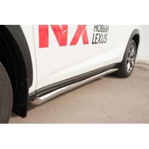 Пороги труба Lexus NX 200t F Sport (вариант 1)