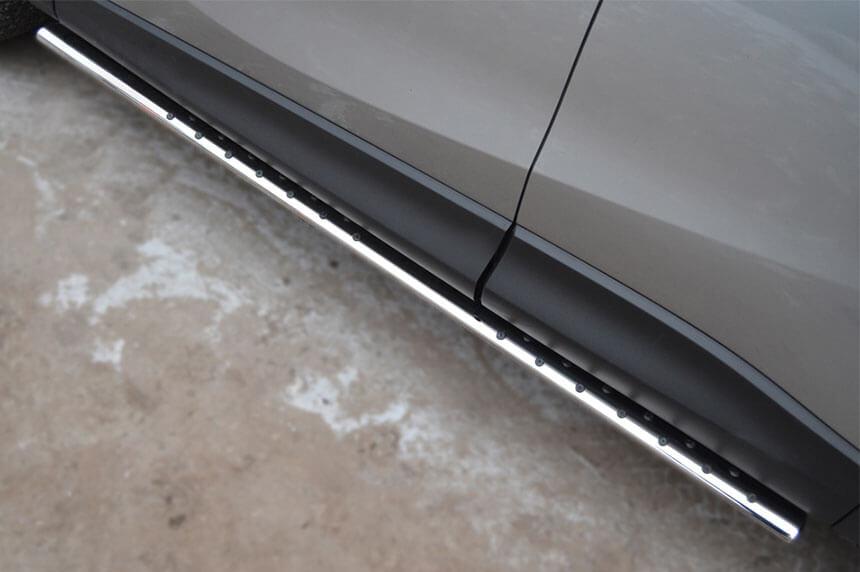Защита порогов Mazda CX-5 2011- 75х42 с проступью M5O-001137, фото 3